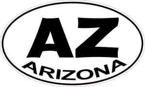 Oval Arizona Sticker
