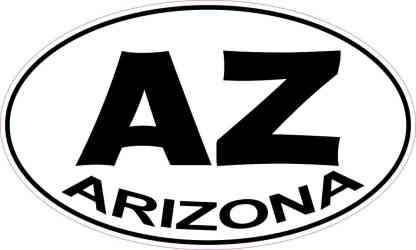 Oval Arizona Sticker