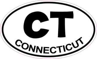 Oval Connecticut Sticker