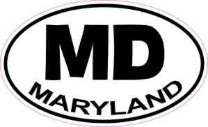Oval Maryland Sticker