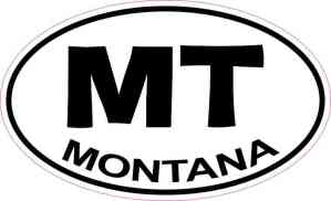 Oval Montana Sticker