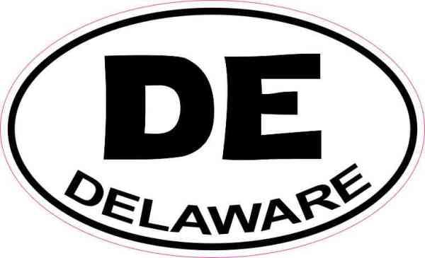 Oval Delaware Sticker