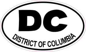 Oval DC District of Columbia Sticker
