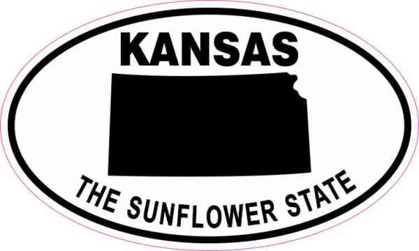 Oval Kansas the Sunflower State Sticker