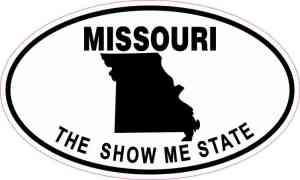 Oval Missouri the Show Me State Sticker