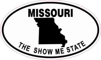 Oval Missouri the Show Me State Sticker