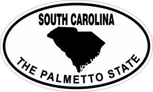 Oval South Carolina the Palmetto State Sticker