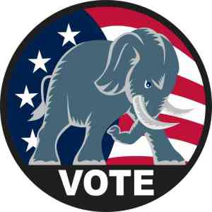 Republican Elephant Vote Sticker