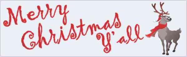 Merry Christmas Y'all Bumper Sticker
