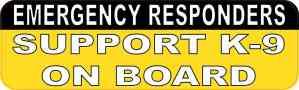 Support K-9 on Board Bumper Magnet