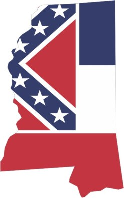 Mississippi Flag Sticker