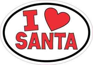 I Love Santa Sticker