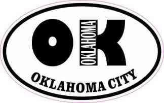 Oval OK Oklahoma City Sticker