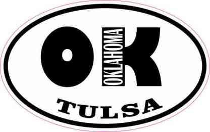 Oval OK Tulsa Oklahoma Sticker