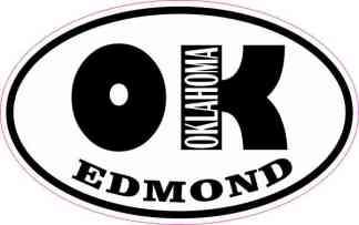 Oval OK Edmond Oklahoma Sticker
