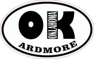 Oval OK Ardmore Oklahoma Sticker