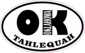 Oval OK Tahlequah Oklahoma Sticker