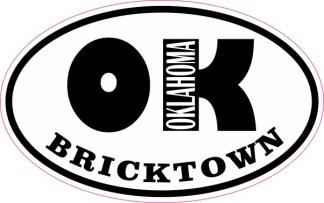 Oval OK Bricktown Oklahoma Sticker