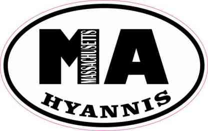 Oval MA Hyannis Massachusetts Sticker