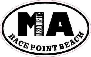 Oval MA Race Point Beach Massachusetts Sticker