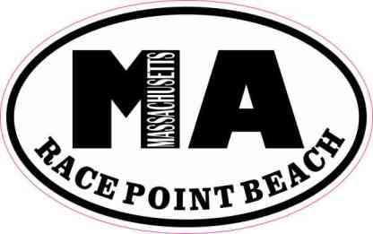 Oval MA Race Point Beach Massachusetts Sticker