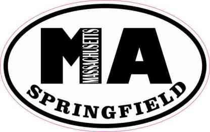 Oval MA Springfield Massachusetts Sticker