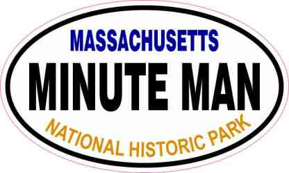Oval Minute Man National Historic Park Sticker