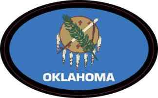 Oval Oklahoma Flag Sticker