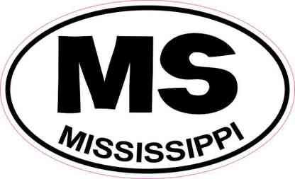 Oval Mississippi Sticker