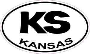 Oval KS Kansas Sticker