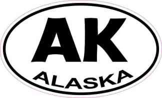 Oval Alaska Sticker