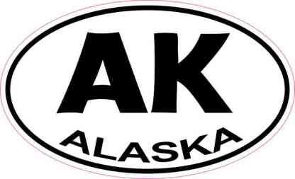 Oval Alaska Sticker