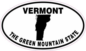 Oval Vermont the Green Mountain State Sticker