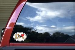 Beagle Oval I Love My Pet Sticker