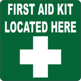 First Aid Kit Located Here Sticker