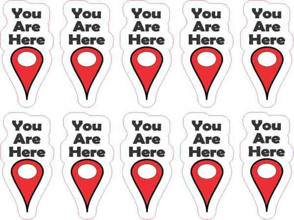 You Are Here Pointer Stickers