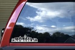 Blue Seattle Skyline Sticker