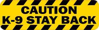 Caution K-9 Stay Back Magnet