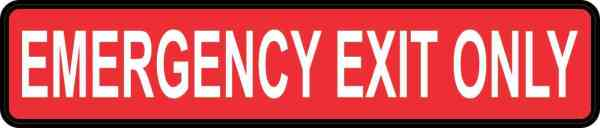 Emergency Exit Only Magnet