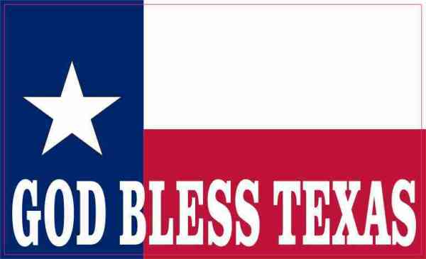 State Flag God Bless Texas Sticker