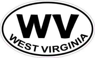 Oval WV West Virginia Sticker