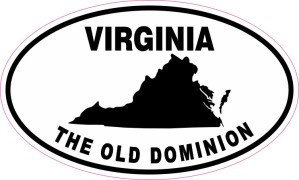 Oval Virginia The Old Dominion Sticker