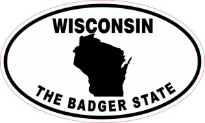 Oval Wisconsin The Badger State Sticker