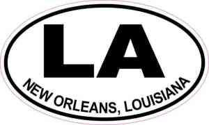 Oval LA New Orleans Louisiana Sticker