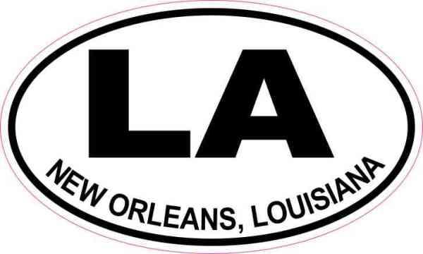 Oval LA New Orleans Louisiana Sticker