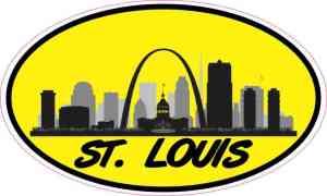 Yellow Oval St. Louis Skyline Sticker