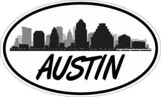Oval Austin Skyline Sticker