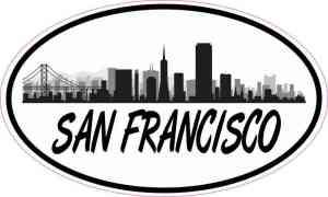 Oval San Francisco Skyline Sticker