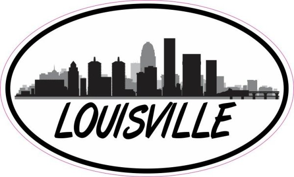 Oval Louisville Skyline Sticker