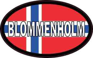 Oval Norway Flag Blommenholm Sticker